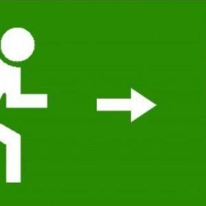 Nooduitgang naar links